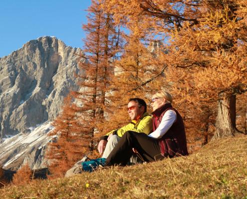 Wandern im Goldenen Herbst