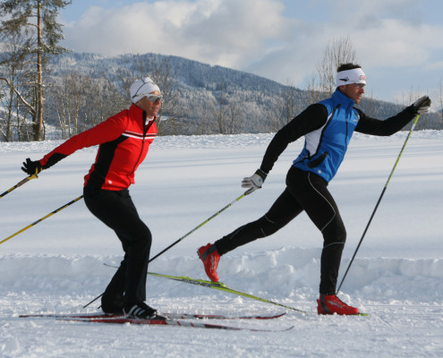 Langlauf auf 150 km klassische Loipen