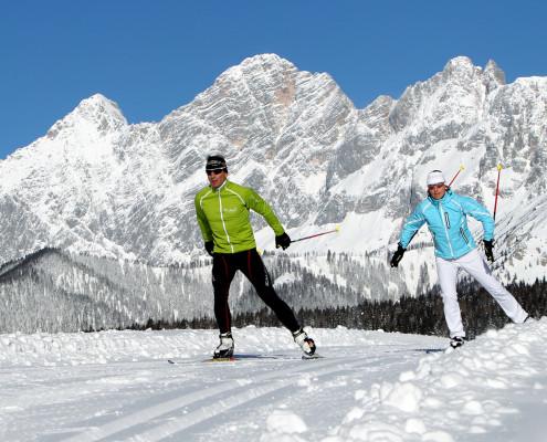 Langlauf auf 70 km Skating Loipen