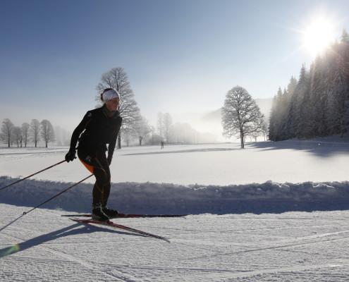 Langlauf mit Schneesicherheit